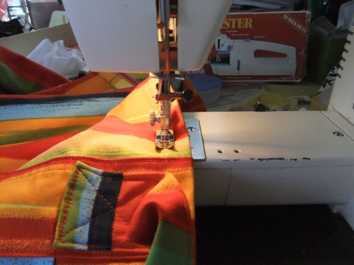 topstitching the zipper placket